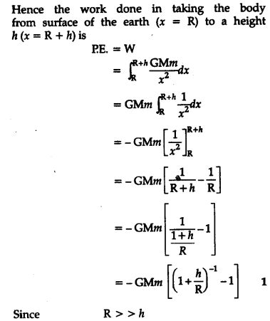 Derive an expression for the gravitational potential