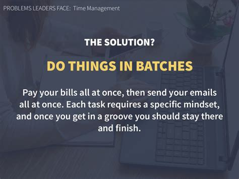 PROBLEMS LEADERS FACE: Time Management