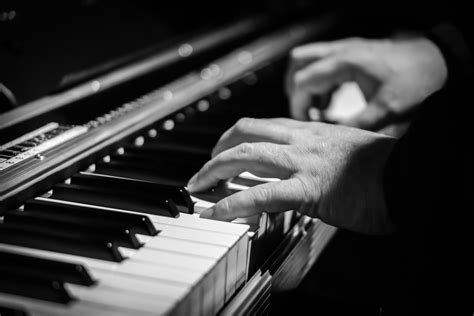 Free Images : hand, black and white, technology, piano