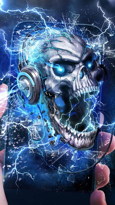 Electric skull live wallpaper Free Android Live Wallpaper