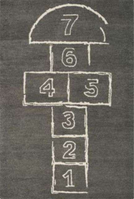 Playground-Inspired Rugs : Hopscotch Rug