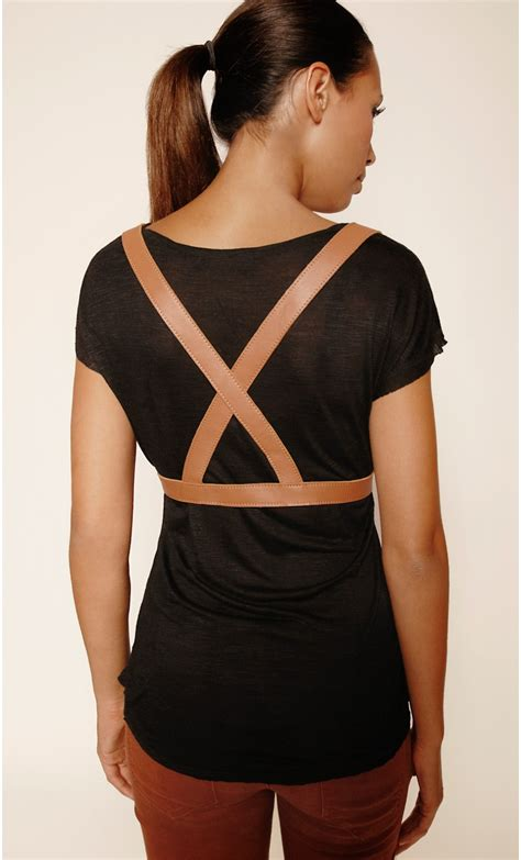 Woman's leather harness - mondefile