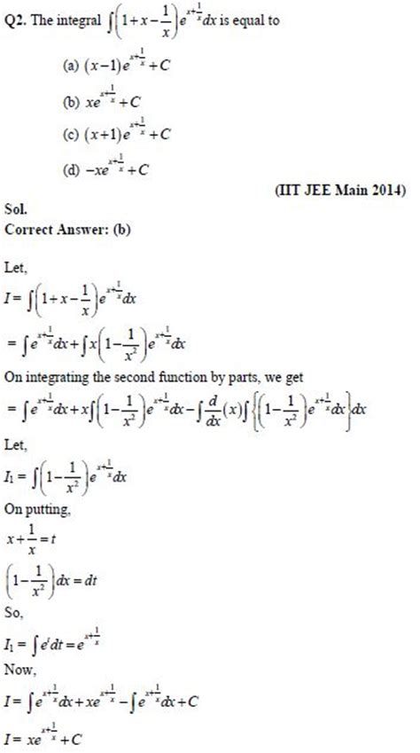 Integrals – Chapter Notes & Important Questions for IIT