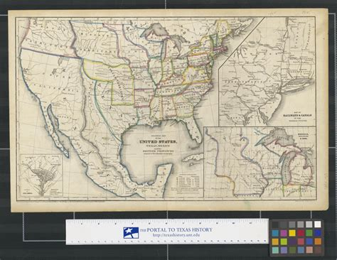 Political map of the United States, Texas, Mexico and the