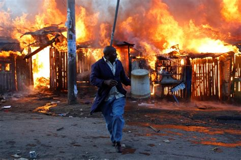 Photos of deadly election violence and looting in