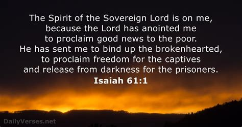Isaiah 61:1 - Bible verse of the day - DailyVerses