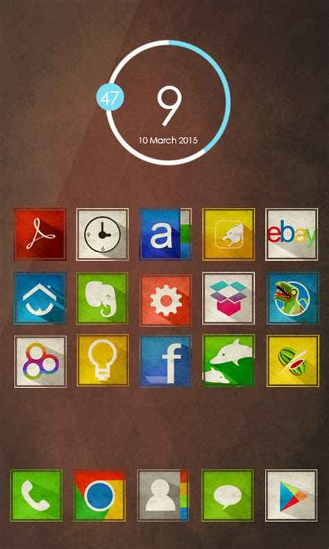 Flat Retro - Icon Pack » Apk Thing - Android Apps Free