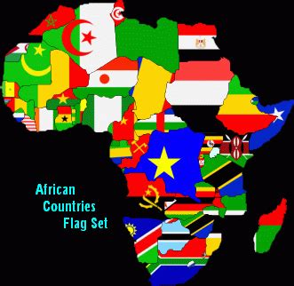 African Countries Flag Set