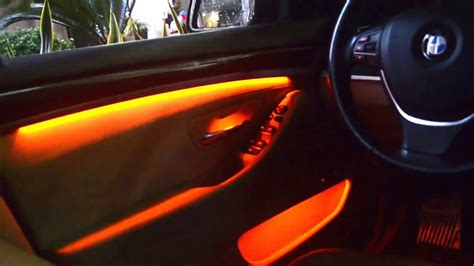 Ambient Lighting upgrade for BMW F10 - YouTube