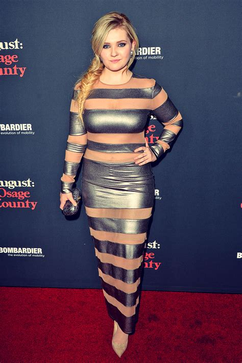 Abigail Breslin August Osage County premiere - Leather