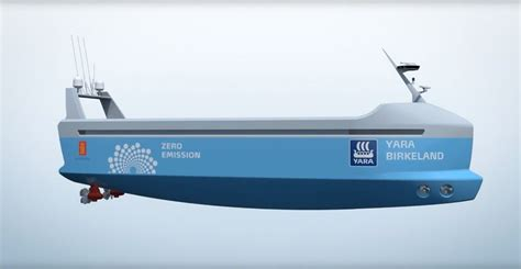 The first electric-powered autonomous container ship to be