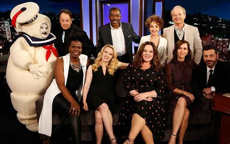Original Ghostbusters join new cast to mark film's anniversary