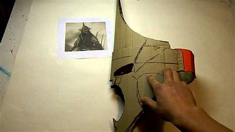 Witch king costume, making the helmet part 1 - YouTube