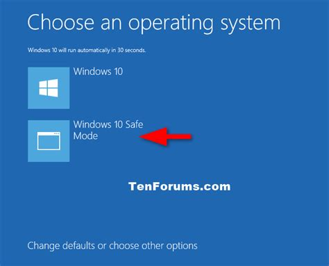 Safe Mode - Add to Boot Options in Windows 10 - Windows 10
