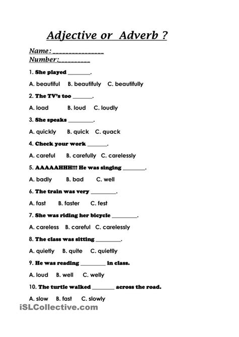 Adjective or Adverb? | Adverbs worksheet, Adjective