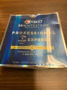 Crest 3d Whitestrips Professional 1 Hour Express EXP 12