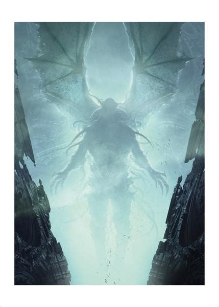 Cthulhu in R'lyeh (Call of Cthulhu) Illustrated by