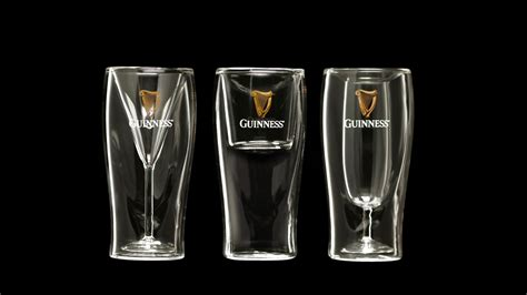 Guinness Signature Cocktail Glasses on Packaging of the
