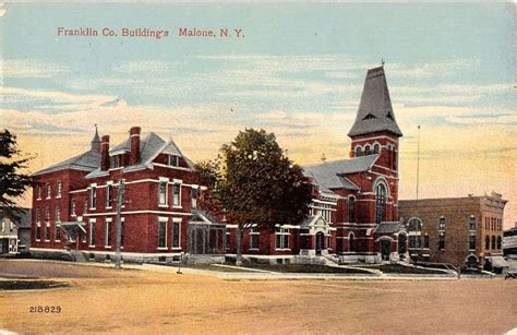 Malone New York Franklin Co Buildings Street View Antique