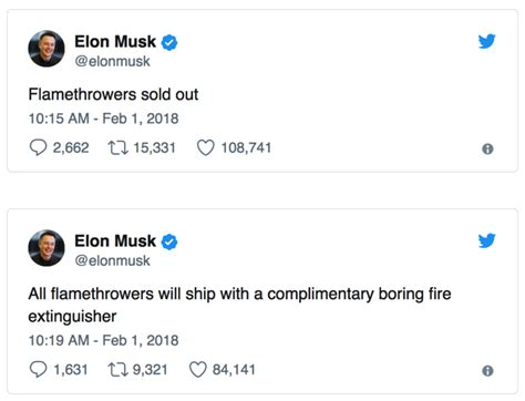 Elon Musk: All 20,000 Boring Company Flamethrowers Have