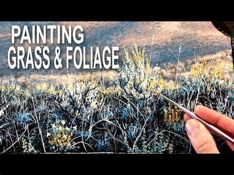 How To Paint Foliage & Grass - YouTube