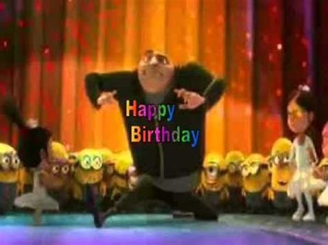 Happy Birthday, Despicable Me Style! - YouTube