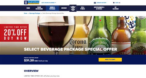 Royal Caribbean offering discounts on drink and internet