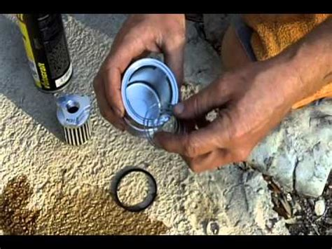 How To Clean Reusable Oil Filter R1Videos