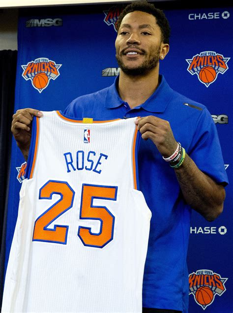 Derrick Rose is excited to be a Knick, even as he looks