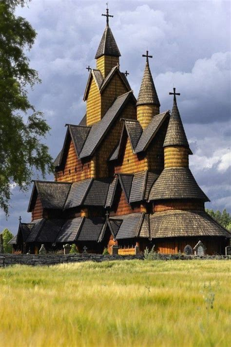 Norway's largest stave church built in the 1200s and still